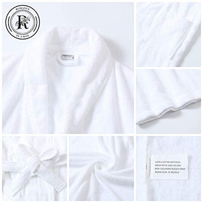 Romance Helpers His and Hers Robes Set | Set of 2 Terry Cotton Robes for Couples | Perfect Wedding Engagement Anniversary Couple Gifts