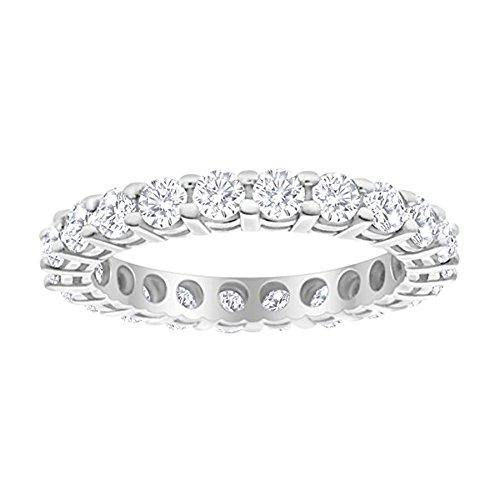 3 Carat (ctw) 14K White Gold Round Diamond Ladies Eternity Wedding Anniversary Stackable Ring Band Value Collection