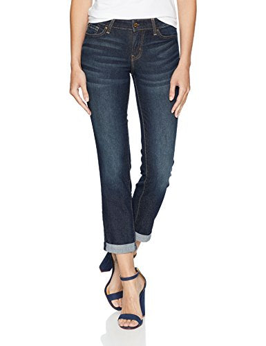 Signature by Levi Strauss & Co. Gold Label Women's Plus Mid Rise Slim Boyfriend Jeans, Stormy Sky Canada, 16