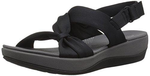 Clarks Women's Arla Primrose Sandal, Black Fabric, 8.5 Medium US - PRTYA