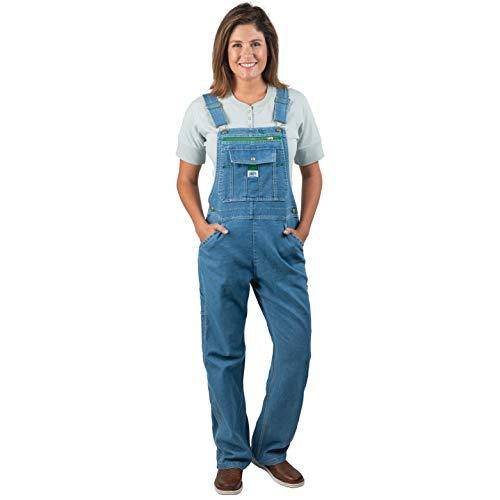 Liberty Women's Denim Bib Overalls, Light Stone Washed, 2X-Large