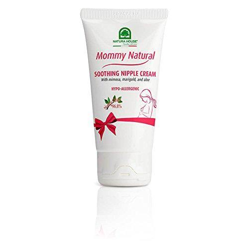 Natura House Mommy Natural Soothing Nipple Cream – For Use During and After Pregnancy – Mimosa, Marigold and Aloe Soothe Cracked Nipples, Made in Italy – Hypoallergenic, Dermatologist Tested, 1.69 oz.