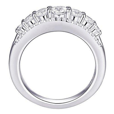 Newshe 1.13ct Round White AAA Cz 925 Sterling Silver Wedding Band Eternity Ring Size 5