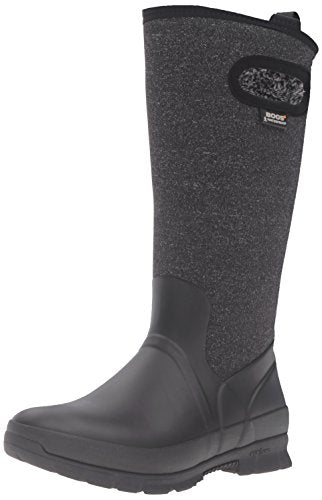 BOGS Women's Crandall Tall Snow Boot, Melange Black, 8