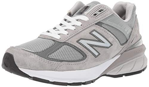 New Balance Women's Made 990 V5 Sneaker, Grey/Castlerock, 8.5 M US