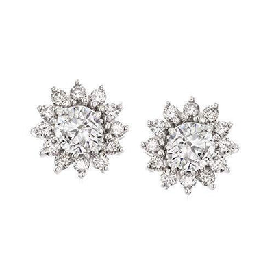Ross-Simons 0.50 ct. t.w. Diamond Earring Jackets in 14kt White Gold For Women