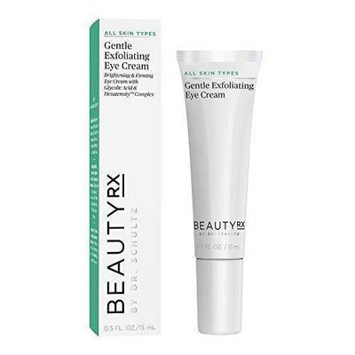 BeautyRx by Dr. Schultz Premium Gentle Exfoliating Eye Cream for Dark Circles, Wrinkles & Puffiness, 0.5 fl. oz