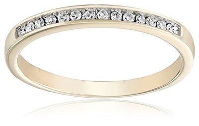 10KT Yellow Gold Round Diamond Anniversary Ring (1/10 CTTW), 8
