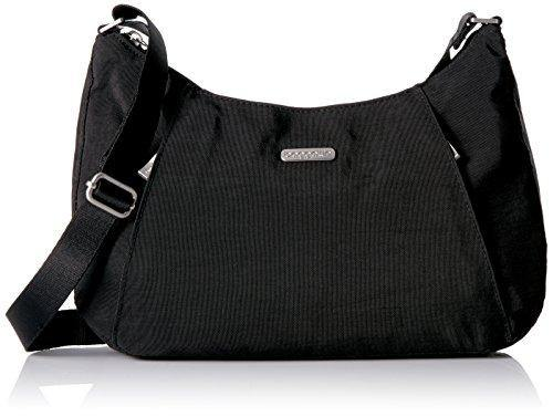 Baggallini womens Slim Crossbody hobo handbags, Black, One Size US