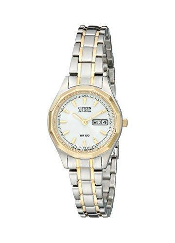 Citizen Women's Eco-Drive Sport Two-Tone Watch with Date, EW3144-51A - PRTYA