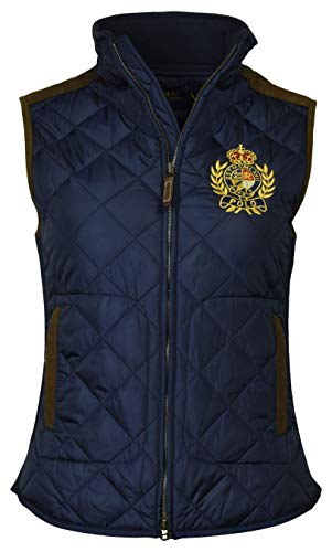 Polo Ralph Lauren Women's Leather Trimmed Quilted Crest Logo Vest - XS - Navy