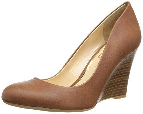 Jessica Simpson Women's Cash Wedge Pump,Almond, 8.5 M US