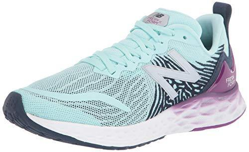 New Balance Women's Fresh Foam Tempo V1 Running Shoe, Bali Blue/Plum, 8.5 W US