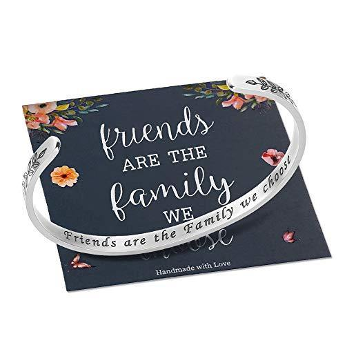 M MOOHAM Friends are The Family We Choose Bracelet, Friendship Gifts Best Friend Bracelets for Women