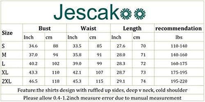 Jescakoo Women's T Shirts Solid Color Deep V Neck Tops Loose fit Blouses Black L