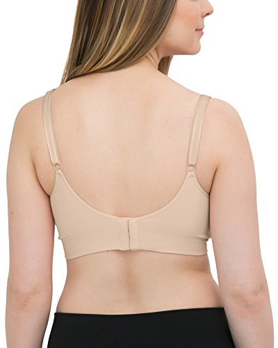 Kindred Bravely Simply Sublime Seamless Nursing Bra for Breastfeeding | Wireless Maternity Bra (Beige, Medium-Busty)