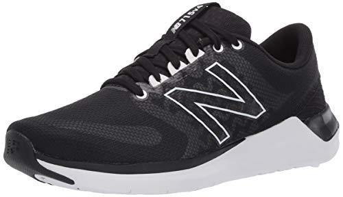 New Balance womens Cush+ 715 V4 Cross Trainer, Black/White, 8.5 US
