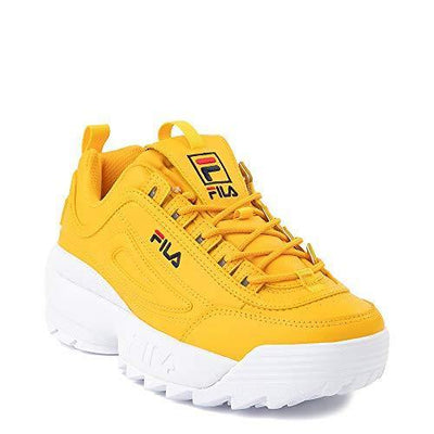 Disruptor 2 Premium Athletic Shoe (Yellow/Navy/Red 2095, Numeric_8_Point_5)