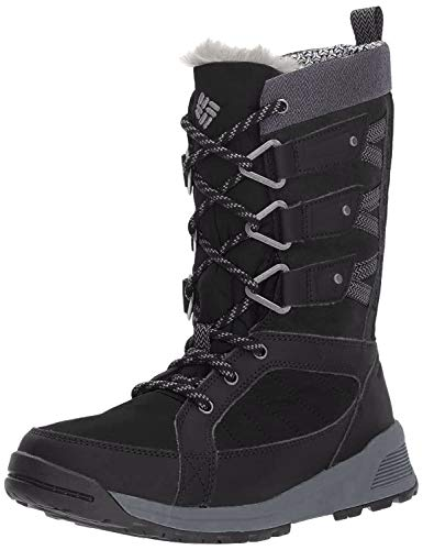 Columbia Women's Meadows Omni-Heat 3D Mid Calf Boot, Black, steam, 8 Regular US