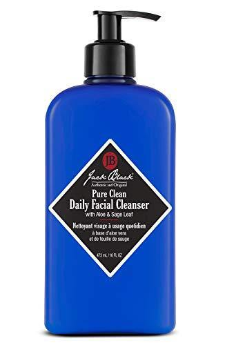 Jack Black - Pure Clean Daily Facial Cleanser, 3, 6 and 16 fl oz – 2-in-1 Facial Cleanser and Toner, Removes Dirt and Oil, PureScience Formula, Certified Organic Ingredients, Aloe and Sage Leaf