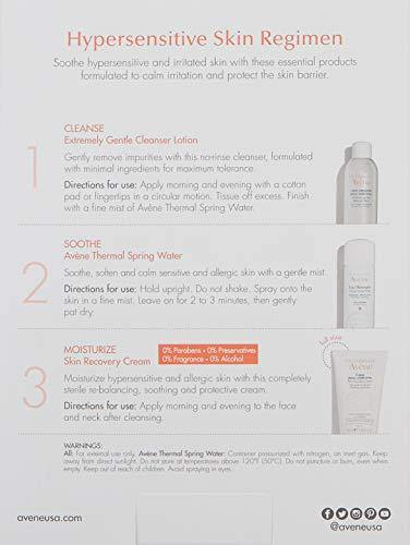 Eau Thermale Avene Hypersensitive Skin Regimen Kit for Sensitive and Irritated Skin