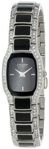 Citizen Women's EW9780-57E Eco-Drive Normandie Stainless Steel and Black Watch with - PRTYA
