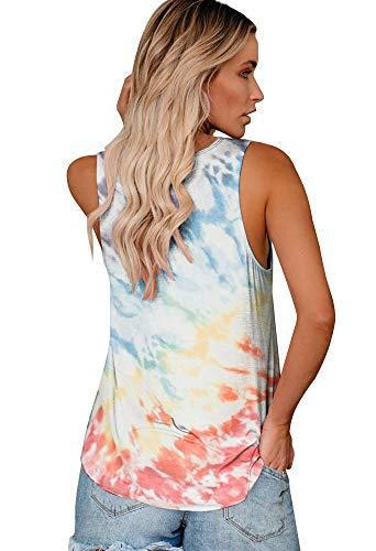 ETCYY Women's Workout Tie-Dyed Tank Tops Sleeveless Loose Fit Yoga Athletic T Shirts