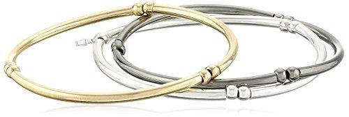 "NINE WEST ""Classics Tri-Tone Trio Stretch Bracelet"
