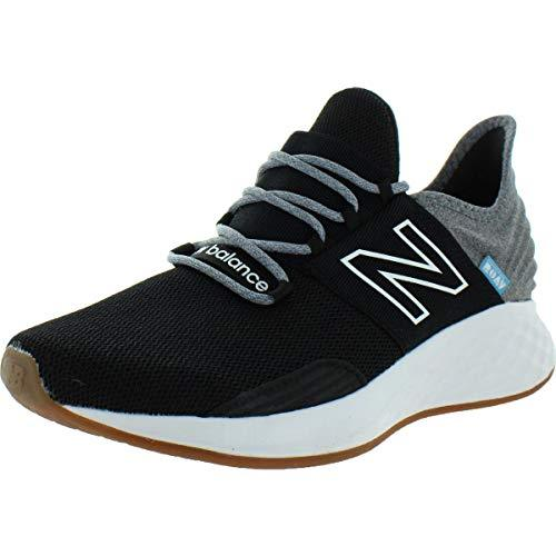 New Balance Women's Fresh Foam Roav V1 Sneaker, Black/Light Aluminum, 7 M US