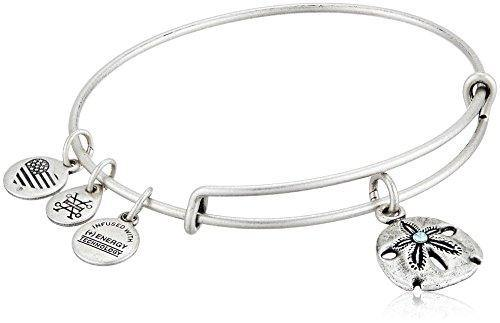 Alex and Ani Sand Dollar III Rafaelian Silver Bangle Bracelet