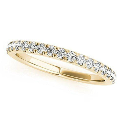 0.75 Ct. Diamond Engagement Bridal Ring Set 14K Solid Yellow Gold