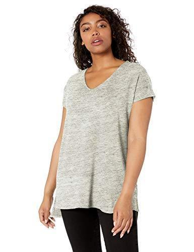Amazon Brand - Daily Ritual Women's Supersoft Terry Dolman-Sleeve V-Neck Tunic, Heather Grey Spacedye, Small - PRTYA