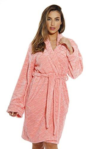 Just Love Kimono Robe Bath Robes for Women 6311-Coral-M