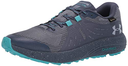Under Armour Women's Charged Bandit Trail Gore-TEX Sneaker, Downpour Gray (400)/Blue Heights, 8.5