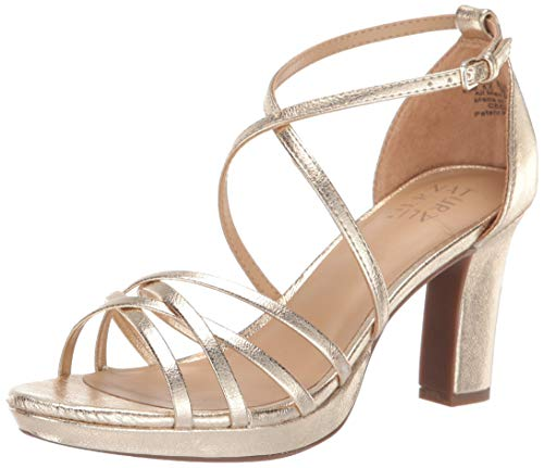 Naturalizer Womens Cecile Gold Heeled Sandals 7 M