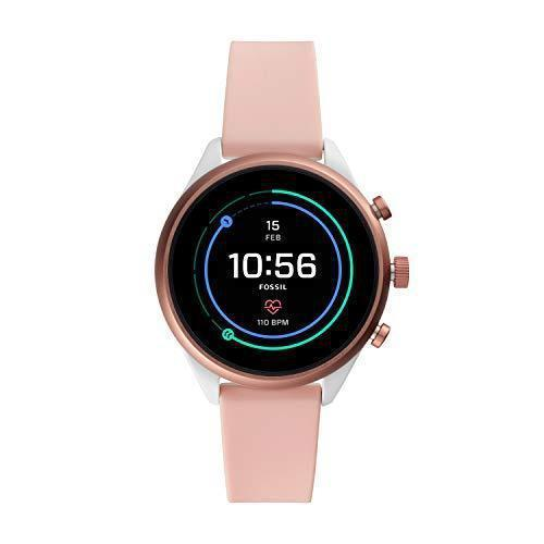 Fossil Women's Gen 4 Sport Heart Rate Metal and Silicone Touchscreen Smartwatch,