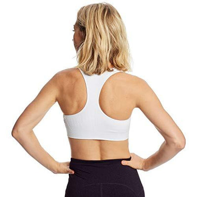 C9 Champion Women's Medium Support Seamless Racerback Bra, True White, L - PRTYA