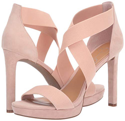 Jessica Simpson Women's Lixen Heeled Sandal, Blush, 7.5 M US