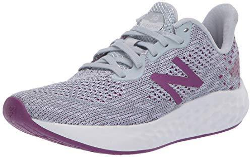 New Balance Women's Fresh Foam Rise V2 Running Shoe, Light Cyclone/Moon Dust/Plum, 7 W US