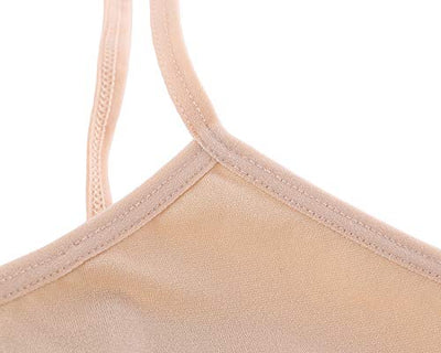 Fimage Women's Simple Pure Color Stretch Seamless Mini Camisole Nude