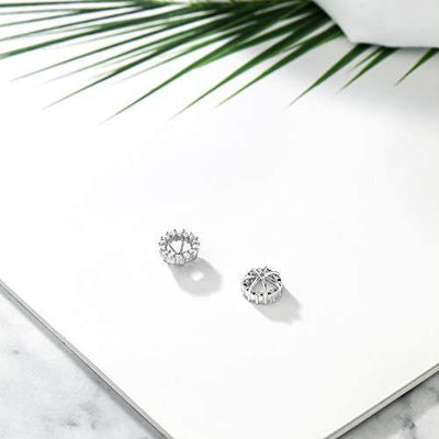 Gem Stone King 925 Sterling Silver Earring Jackets for 5mm Round Studs