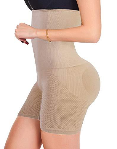 FLORATA Women Waist Trainer Shapewear Tummy Control Body Shaper Shorts Hi-Waist Butt Lifter Thigh Slimmer