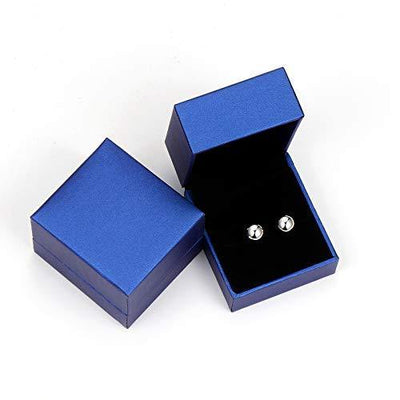 White Gold Sterling Silver Ball Stud Earrings 3mm-8mm Options, Simple Polished Ball Studs Hypoallergenic Jewelry (5mm)