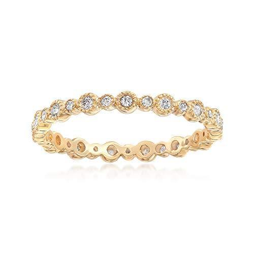 Ross-Simons 0.25 ct. t.w. Diamond Eternity Band in 14kt Yellow Gold For Women