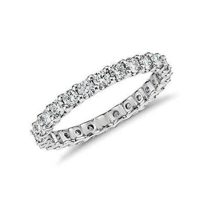 NYC Sterling 2.50mm Sterling Silver 925 Cubic Zirconia Eternity Engagement Wedding Band Ring (6)