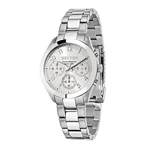 Sector No Limits Women's 120 Analog-Quartz Sport Watch with Stainless-Steel Strap, Silver,