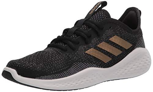adidas Women's Fluidflow Running Shoe, core Black/Tactile Gold Met./Grey Six, 7.5 M US - PRTYA