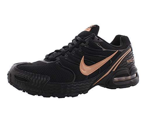 Nike Women's Air max Torch 4 Running Shoes, Black/Metallic Silver/Pink, 8