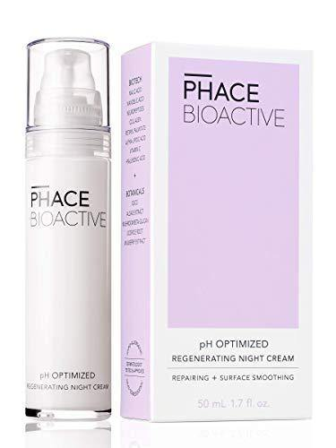 PHACE BIOACTIVE Regenerating Night Cream with Alpha Hydroxy Acids, Patented Argireline, Matrixyl Peptides, Collagen for Firmer Skin, Dermatologist Recommended Anti Aging Treatment, Oil Free, 1.7 Fl Oz