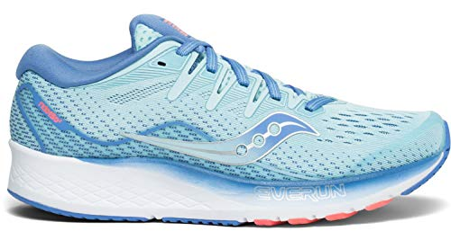 Saucony Women's Ride ISO 2 Running Shoe, Blue/Coral, 9 M US
